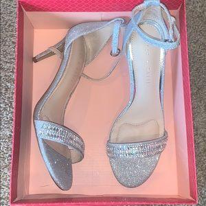Kelly & Katie sparkly silver heels